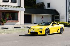 LFA (Maxi Vogl) Tags: lexus lfa lexuslfa v10 supercar car carphotography yellow munich germany