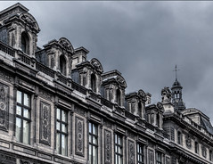 Imposing (docoverachiever) Tags: france architecture louvre building paris windows cloudy