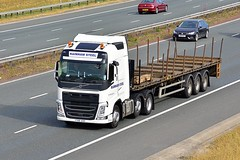 YT66 AOO (Martin's Online Photography) Tags: volvo fh4 truck wagon lorry vehicle freight haulage commercial transport a1m northyorkshire nikon nikond7200