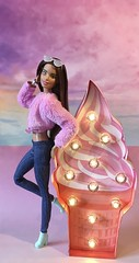 Pastel Dreams & Pink Ice Cream (MaxxieJames) Tags: vittoria belmonte barbie mattel doll fashion fashionista pink clouds unicorn collector made move brunette