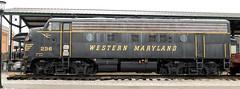 Western Maryland 236 (PAJ880) Tags: westen maryland emd f7a locomotive baltimore ohio railroad museum md