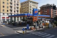 IP, Genoa Italy. (EYBusman) Tags: italiana petroli spa ip petrol gas gasoline filling service station garage genoa genova city centre eybusman