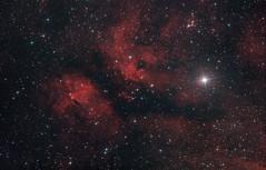 """Эмиссионная туманность IC 1318 """"Бабочка"""" в созвездии Лебедя. (washbourn174) Tags: ic 1318 nebula astrophotography"""