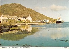 Lochboisdale (Neil F King) Tags: scotland westernisles outerhebrides southuist lochboisdale claymore ship steamer ferry calmac caledonianmacbrayne macbraynes postcard bus coach pier