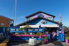 Scenic house Fisherman's Wharf Victoria Vancouver island