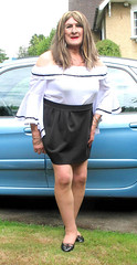 Janebrdotcar (fionaxxcd) Tags: transvestite tranny trannie m2f mtf ladyboy crossdresser crossdressing bust longhair blackpatentshoes bardottop h