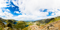 On top of the 7 Rila lakes HDR Panorama (Quetzalcoalt0) Tags: canon 6d 1530 1530mm seven 7 rila lakes mountain blue sky clouds cloud sun panorama hdr lake green grass