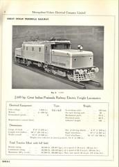 Metropolitan Vickers Catalogue 1938/9 - Page 4 (HISTORICAL RAILWAY IMAGES) Tags: metropolitan vickers catalogue locomotives railways india gipr