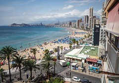 Benidorm. Levante beach. (CWhatPhotos) Tags: cwhatphotos people sand sun light sunlight blue sky skies olympus four thirds 43 omd em10 ii digital camera photographs photograph pics pictures pic picture image images foto fotos photography artistic that have which with contain artistc benidorm beach seaside resort spain costa blanca spanish fun hol holiday september 2018