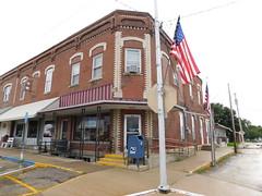 Lost Nation, Iowa 52254 (jimmywayne) Tags: iowa lostnation clintoncounty downtown postoffice historic