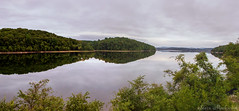 Wanaque Reservoir_4384-4386 (smack53) Tags: smack53 panorama wanaquereservoir ringwood newjersey westbrook lake pond water reflections mountains scenic scenery outdoors outside nikon d100 nikond100 summer summertime