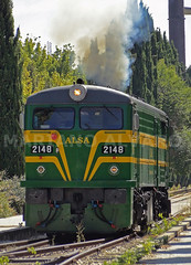 American Smoke (Mariano Alvaro) Tags: alsa alco renfe locomotora diesel 321 048 050 2148 2150 museo ferrocarril delicias