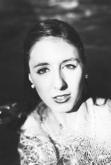 Dark Water (@phr_photo) Tags: closeup femme girl woman face eye regard eau water monochrome