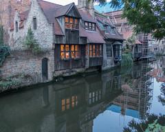 Bruges, Belgium-01698 (gsegelken) Tags: belgium bruges vantagetravel canal night reflection