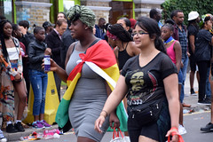 DSC_8151 Notting Hill Caribbean Carnival London Beautiful Girl with the Flag of Ghana Aug 27 2018 Stunning Ladies (photographer695) Tags: notting hill caribbean carnival london exotic colourful costume girls aug 27 2018 stunning ladies beautiful girl with flag ghana