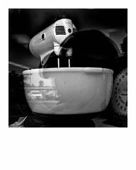 Stand mixer in a junk shop window (Richard C. Johnson: AKA fishwrapcomix) Tags: panasoniclumixg9 20mmf17 blackandwhite bw monochrome shopwindow junkshop midcenturymodern reflections selfportrait shadows duluth minnesota summer bowl text smallbusiness grandavenue modernity icamesofarforbeauty sictransitgloriamundi noiretblanc