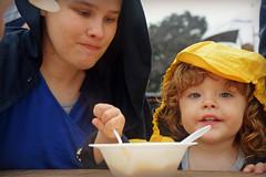 Fair Ice Cream (MTSOfan) Tags: family laura laurel flynn squid grandson daughterinlaw elizabethtownfair spoon bowl icecream snack refreshments