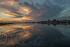 Two of a Kind (Visible Landscape) Tags: uk visiblelandscape england westsussex bosham boats sunset colours clouds reflection
