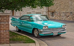 Pretty In Turquoise (Wes Iversen) Tags: 1960 backtothebricks clichesaturday dart dodge flint hcs michigan automobiles autos carshows classiccars tailfins turquoise vintage