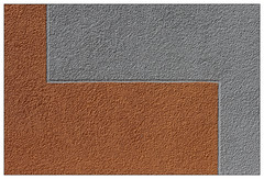 Two colour (frodul) Tags: raschplatzpavillon hannover architektur rauputz orange grau zweifarbig abstrakt textur fassade niedersachsen deutschland rough