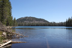 First look at Lower Twin Lake (rozoneill) Tags: lassen volcanic national park california hiking twin lakes upper lower cluster pacific crest trail peak echo lake
