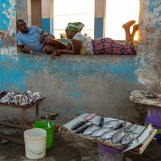 Mercado pescado. Ihla Mozambique