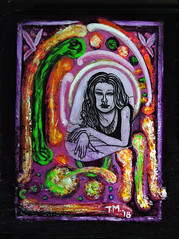Decoupage Art (Tim7778) Tags: surrealism painting drawing woman psychedelic colorful pretty
