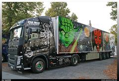 """Volvo FH 500 """"Roland's Fahrschule"""" (uslovig) Tags: 500 rolands fahrschule star wars yoda volvo fh frankenstrolche truckertreffen 2018 lichtenfels germany deutschland truck lkw lastwagen laster lastkraftwagen lorry camion camiones"""