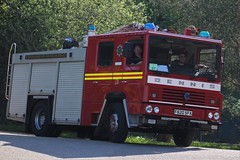 F820 SFA (JKEmergencyPics) Tags: staffs staffordshire fire rescue service sfrs dennis rs ex preserved 999 emergency services appliance engine unit f820 sfa f820sfa h8 1989 longton brooklands day show event 2018