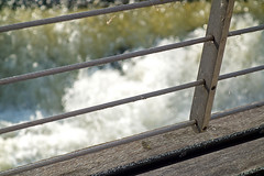 Focal point 2 (Camperman64) Tags: castleford footbridge riveraire eveningsunlight abstract