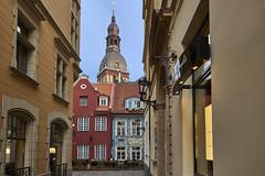 Colourful houses in Riga (Naval S) Tags: riga latvia latvija streetview colorful street colors baltics