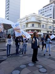 11/09/18 - No centro de Bento Gonçalves, com a militância.