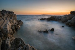 Karidi Beach at Sunrise (viktoria_sohm) Tags: griechenland strand meer steine felsen sonne sonnenaufgang wind himmel bunt farbe sun sunrise sea water stone rocks color sky