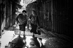 Walk and Talk (stephen cosh) Tags: blackwhite candid israel jerusalem leica50mmaposummicron leicamtype246 stephencosh street streetphotography