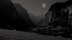 Moon over the Alps (posterboy2007) Tags: lauterbrunnen valley switzerland alps fx village android layers imagination omot