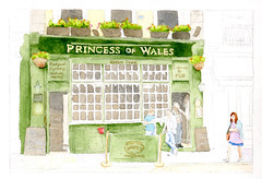 Princess of Wales (lwdphoto) Tags: lance duffin lanceduffin lancewadeduffin watercolor painting art british england english princessofwales pub publichouse london beer architecture