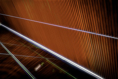Glowing Lines (dougbank) Tags: abstract artsy architecture topazglow aurorahdr red graphic digitalartpainting painterly painted