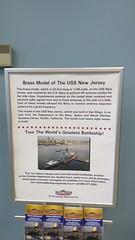 Brass model of USS New Jersey (Morton Fox) Tags: franksfarleyrestarea atlanticcityexpressway nj display ship navy model battleship