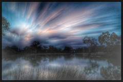 Police Paddock About Sunset (florahaggis) Tags: policepaddock horsham victoria australia wimmera waterhcloudsstormssunsetssunrises sky reflections colours canon6dmkii