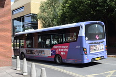 FW 47517 @ Worcester Crowngate bus station (ianjpoole) Tags: first worcestershire wright streetlite max df sn64cfv 47517 working route 34 worcester crowngate bus station dover avenue warndon villages