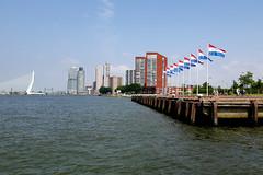 Dutch flags in Rotterdam habor (davidvankeulen) Tags: europe europa rotterdam metropoolrotterdamdenhaag metropolerotterdamdenhaag charlois haven habor hafen davidvankeulen davidvankeulennl davidcvankeulen urbandc maas nieuwewaterweg waterweg