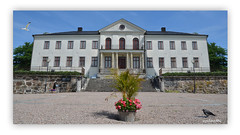 Nääs 9a (andantheandanthe) Tags: nääs sweden blue sky nature building road trees architecture castle flowers steps stairs bird