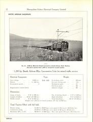 Metropolitan Vickers Catalogue 1938/9 - Page 12 (HISTORICAL RAILWAY IMAGES) Tags: metropolitan vickers catalogue locomotives railway sar southafrican