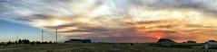 Seaman Fire Sunset Day-2 (northern_nights) Tags: smoke sunset sun redskies firesky pano panorama cheyenne wyoming