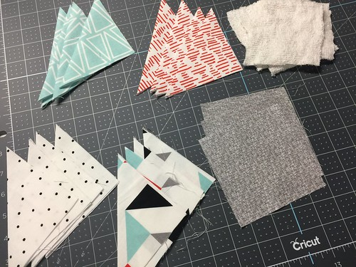 all cut pieces - fabric coasters