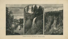 Souvenir of St. Maries, Idaho (1911), Page 4 - St. Maries, Idaho (Shook Photos) Tags: engraving engravings souvenir book booklet stmariesidaho stmaries idaho benewahcounty stjoeriver stmariesriver waterfall rapids whitewater boat boater photogravure