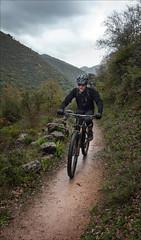 In the rain... (kate willmer) Tags: rain clouds trail bike bicycle biking mountainbike path andalucia spain
