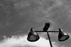< lamps against the sky > (Mister.Marken) Tags: sky lamp monochrome nikond5600 abstract minimal
