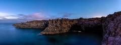 _EVE9420-Pano-Edit (Steve Everitt) Tags: flickraward moonlight moonlit ricoh dfa1530 loshervideros coast volcanic lanzarote sea sky stars k1ii k1 pentax