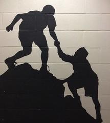 Helping Hand (Mr. Happy Face - Peace :)) Tags: art2018 art mural wall unknown helpinghands teamwork friends friendship wtbw workingtowardsabetterworld